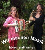 Wir machen Musik mit Akkordeon und Saxophon