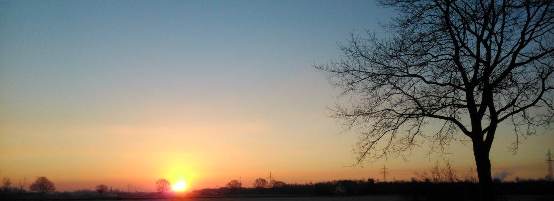 Foto Sonnenaufgang im Hagelkreuz
