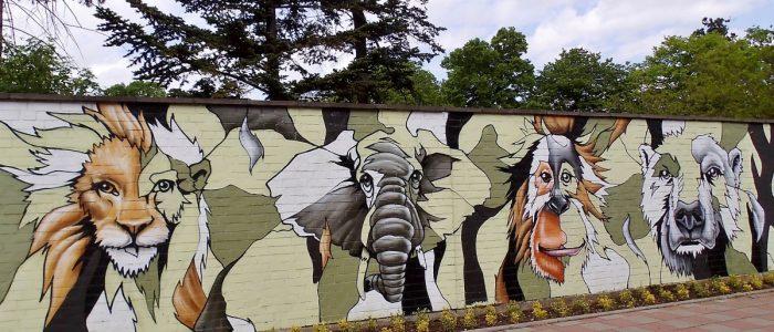 Wandmalerei am Kölner Zoo
