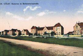 Historische Aufnahme der Kasernenbauten an der Boltensternstraße