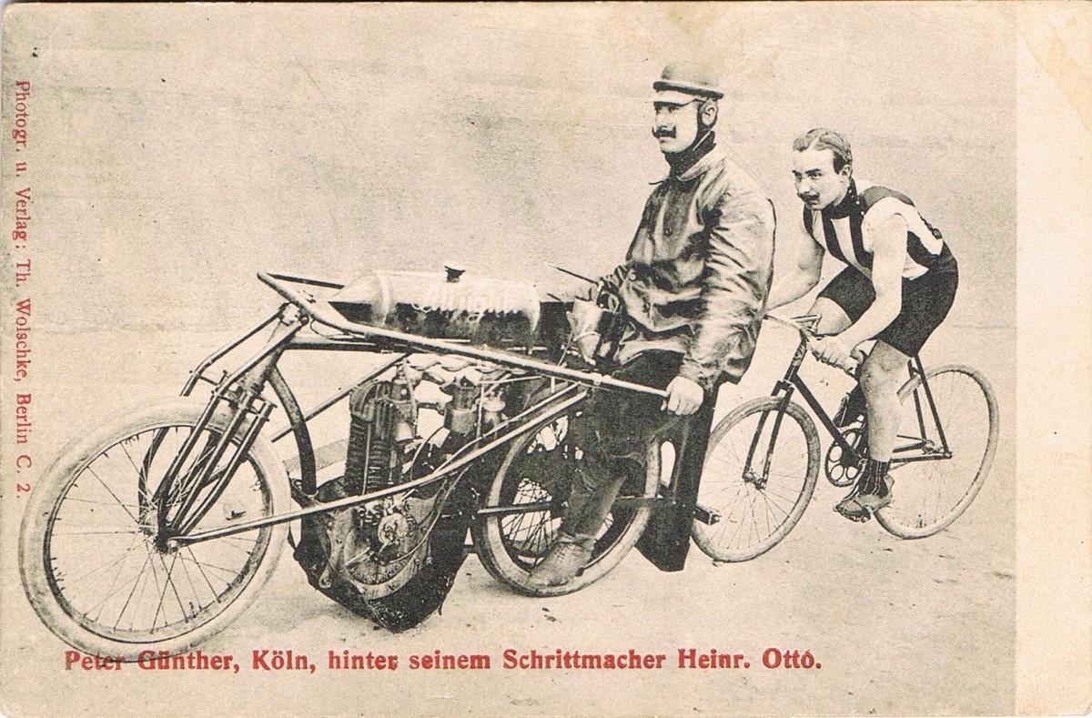 Steherrennfahrer Peter Günther