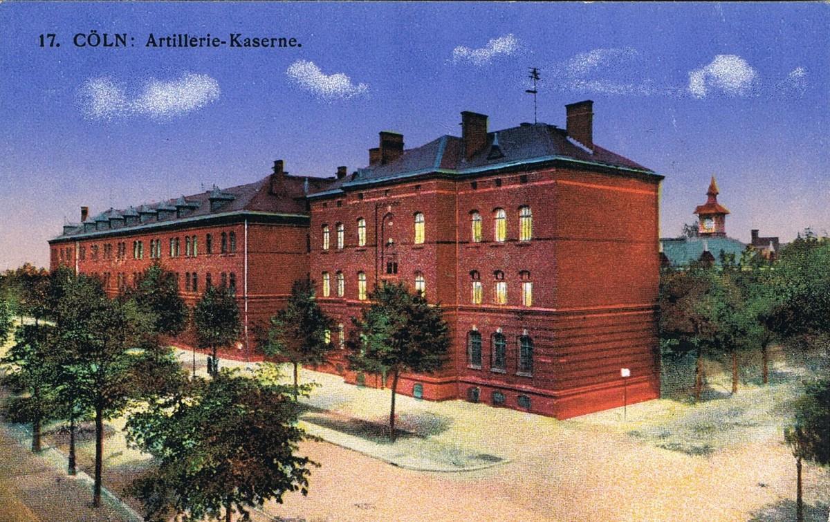Historische Aufnahme der Riehler Artillerie-Kaserne
