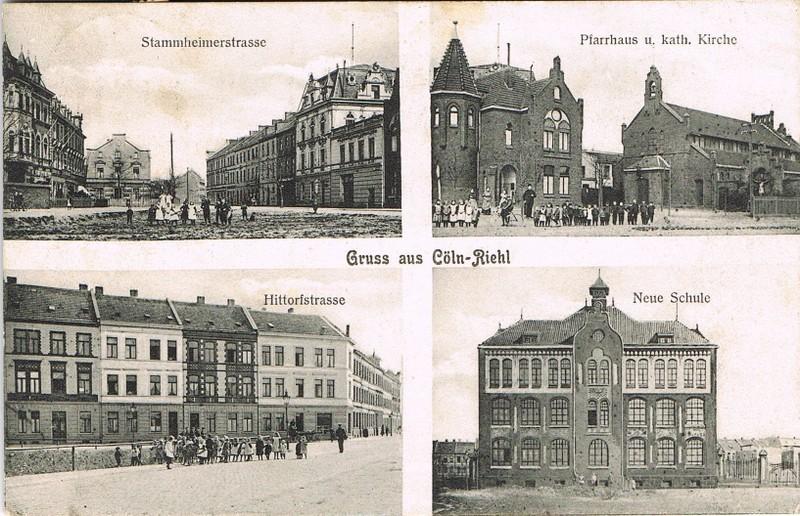 Postkarte mit Riehl-Ansichten von einst