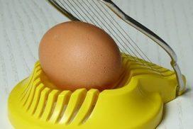 Eierschneider mit Ei