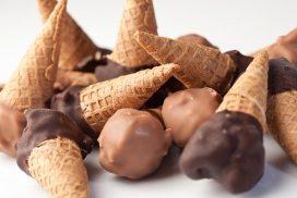 Schokoladeneis-Tüten, gemischt