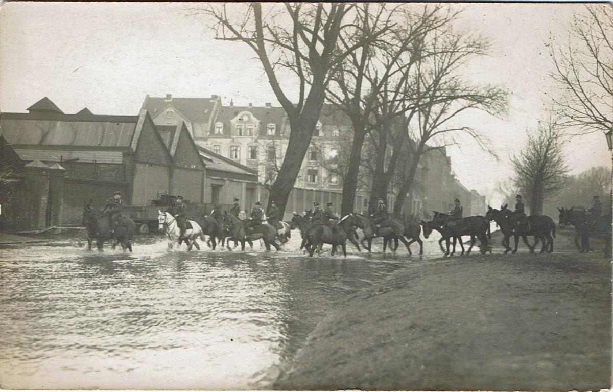 Fa. Ostermann bei Hochwasser