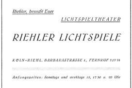 Anzeige Riehler Kino