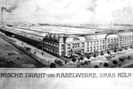 Historische Aufnahme der Draht- und Kabelwerke