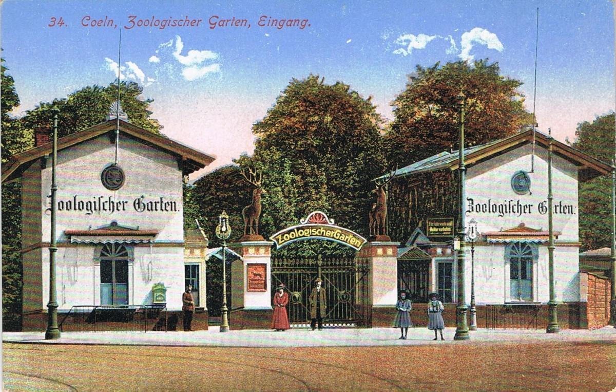 Aufnahme des alten Zooeingangs.