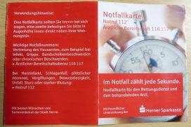 die Notfallkarte in Herne