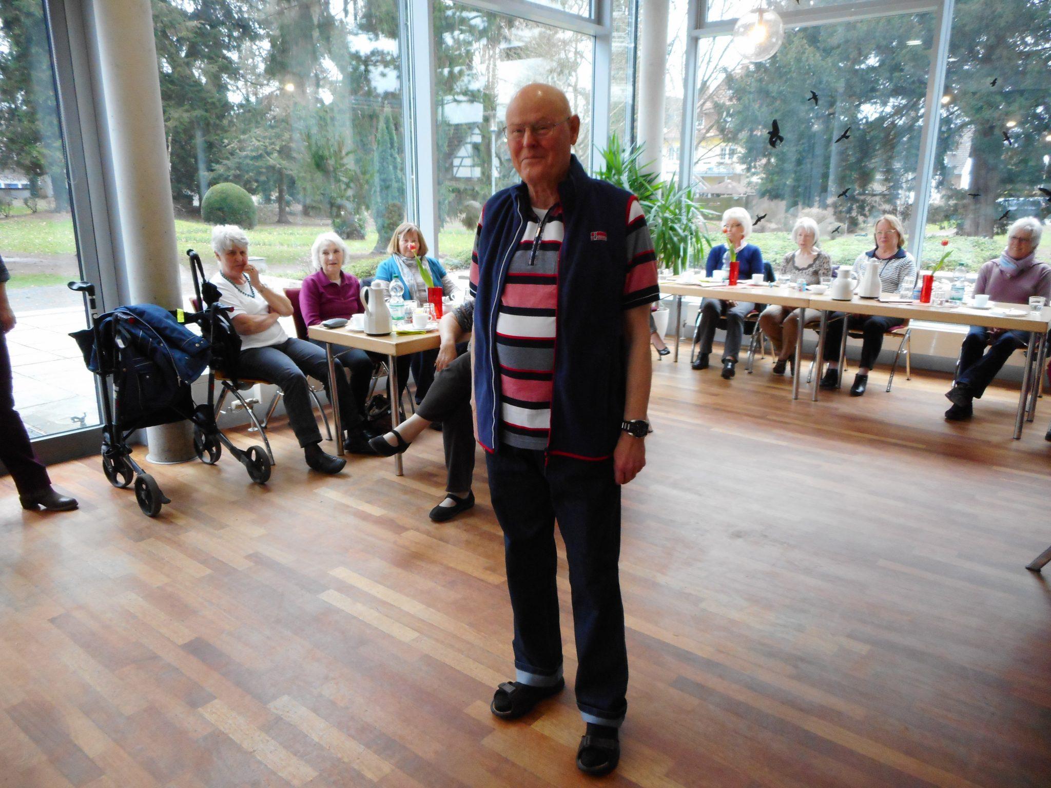 Model Dieter Trube: Er präsentierte, als einziges männliches Model, die Männermode der Kollektion