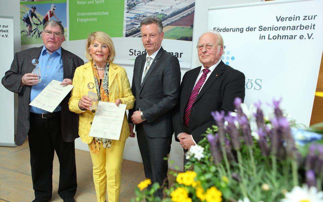 FöS-Seniorenpreis für Annemarie van Allen und Erich Wiemer