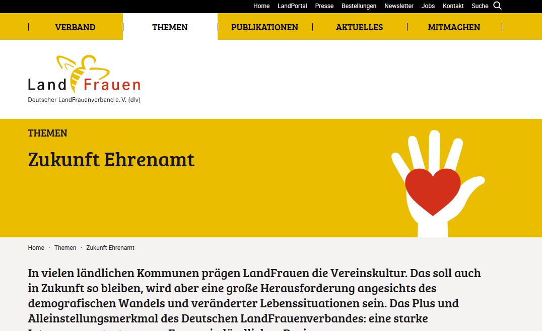 Zukunft Ehrenamt Deutscher Landfrauenverband e.V. - Screenshot