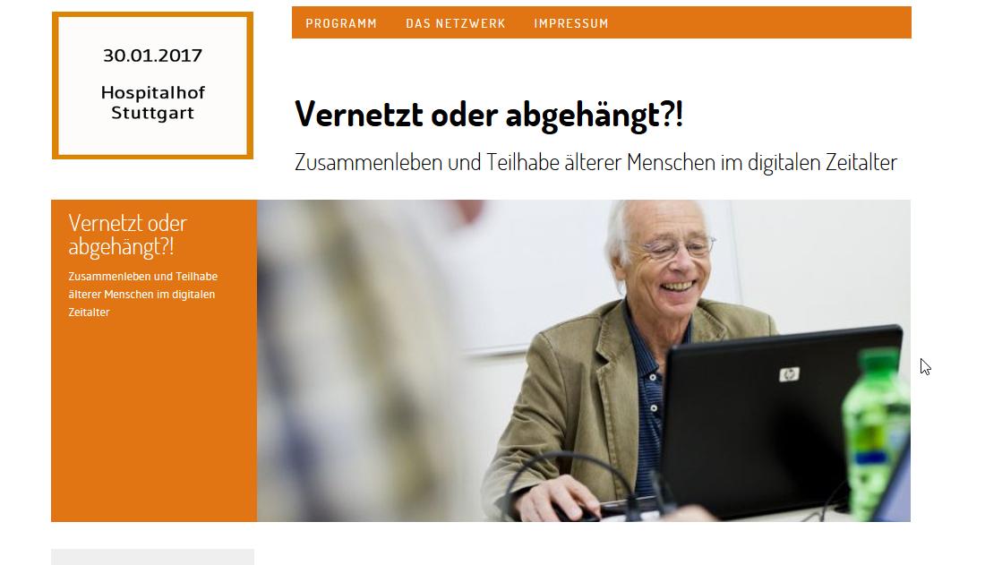 Screenshot der Website Fachtag Senioren Stuttgart 2017