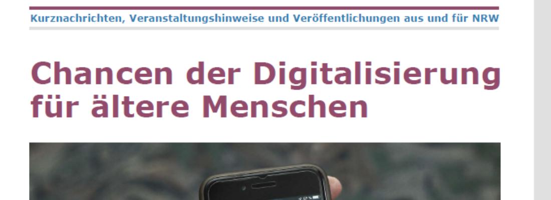 Im Fokus 3/2019: Chancen der Digitalisierung für ältere Menschen