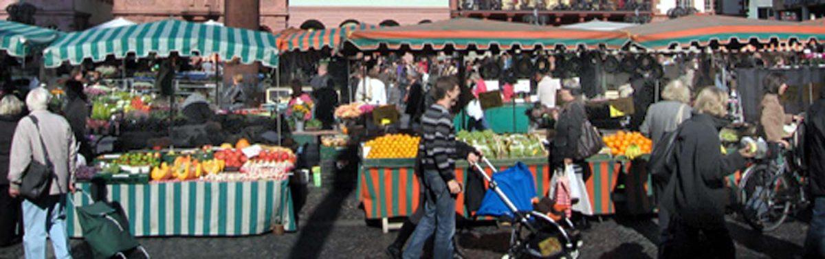 Leben auf einem Marktplatz